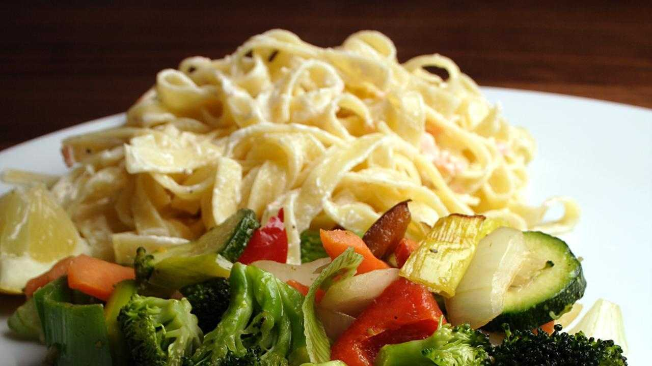 Whole-grain pasta gives complex carbohydrates for energy and is also high in vitamin B.