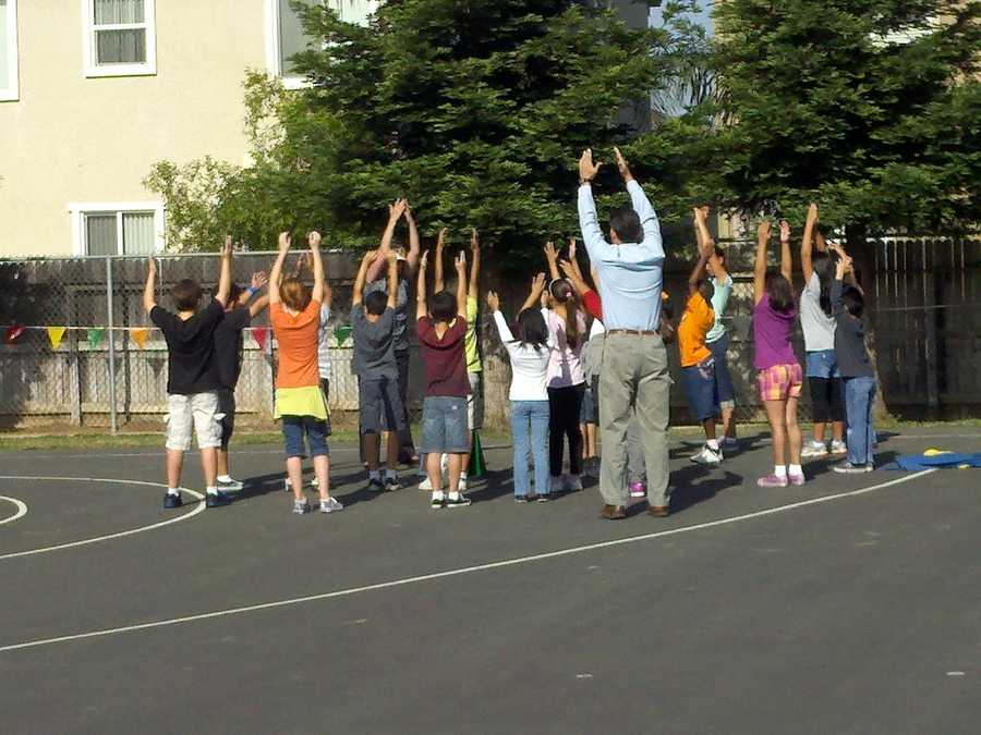 Students at Roy Herburger Elementary School in Elk Grove are going for gold in a fitness and nutrition competition. They worked all school year to eat well and exercise.