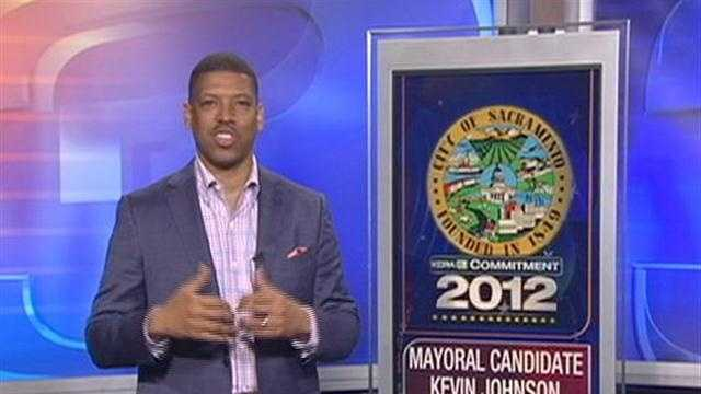 Mayor Kevin Johnson is seeking re-election.