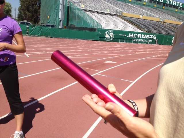 Relays are often won and lost on the baton. Passing it is an art.
