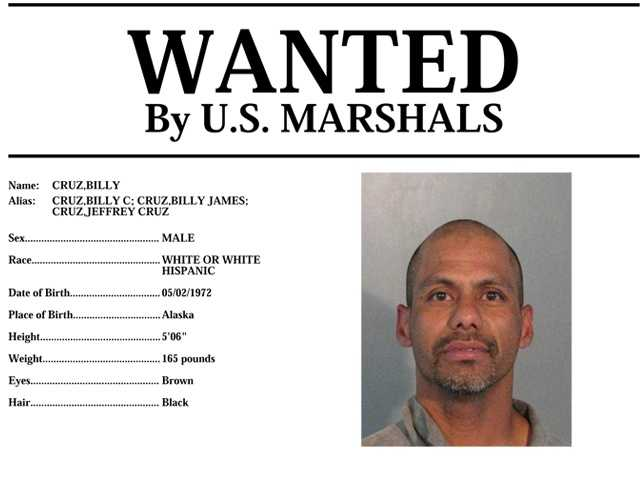 Billy Cruz: Cruzis wanted for suspicion of violating the terms of his release, according to U.S. Marshals. Anyone with knowledge of his whereabouts should call 916-930-2030.