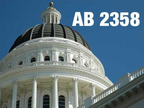AB2358:  Bill would pave the way to place a statue of Ronald Reagan at the Capitol.