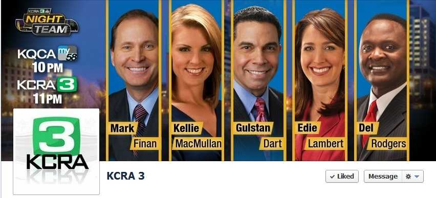 1. Go to KCRA's Facebook page.