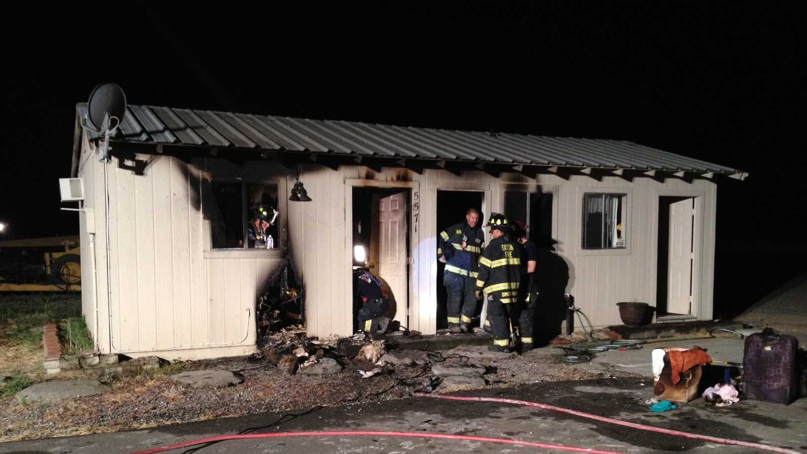No one was home when a fire started in this Dixon home, according to firefighters.