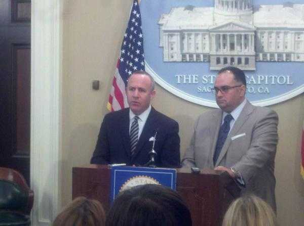 State senator Darrell Steinberg and speaker John Perez say their budget plan is balanced on Wednesday.