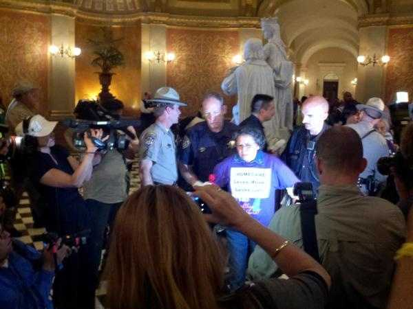 More protesters, perhaps up to 50, are arrested inside the state Capitol during the second day of demonstrations.