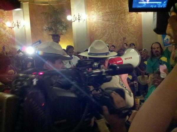 Between 45 and 50 people were arrested Wednesday at the state Capitol.