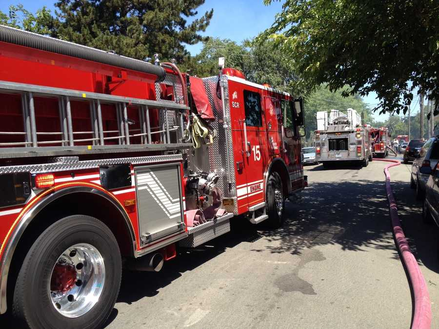 A fire erupted Wednesday at a north Sacramento apartment complex, which caused some damage but no injuries were reported, fire officials said.