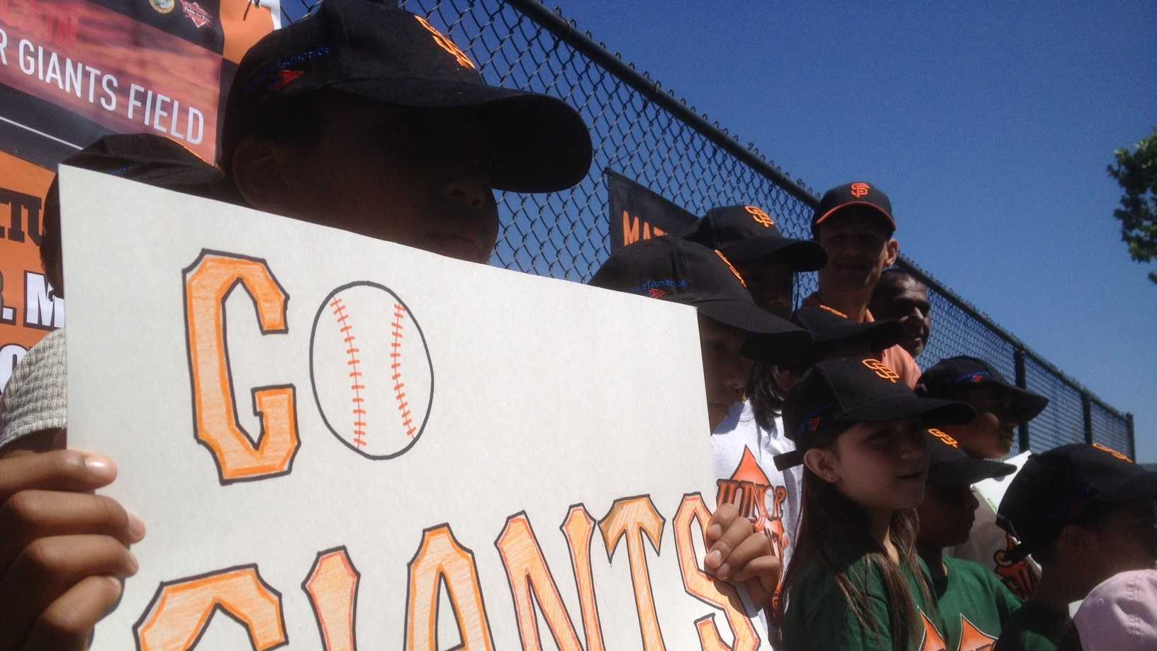 A pint-sized celebration in Sacramento marked Matt Cain's perfect game in San Francisco. Members of the Sacramento Junior Giants had a little fun at the Matt Cain field in south Sacramento.