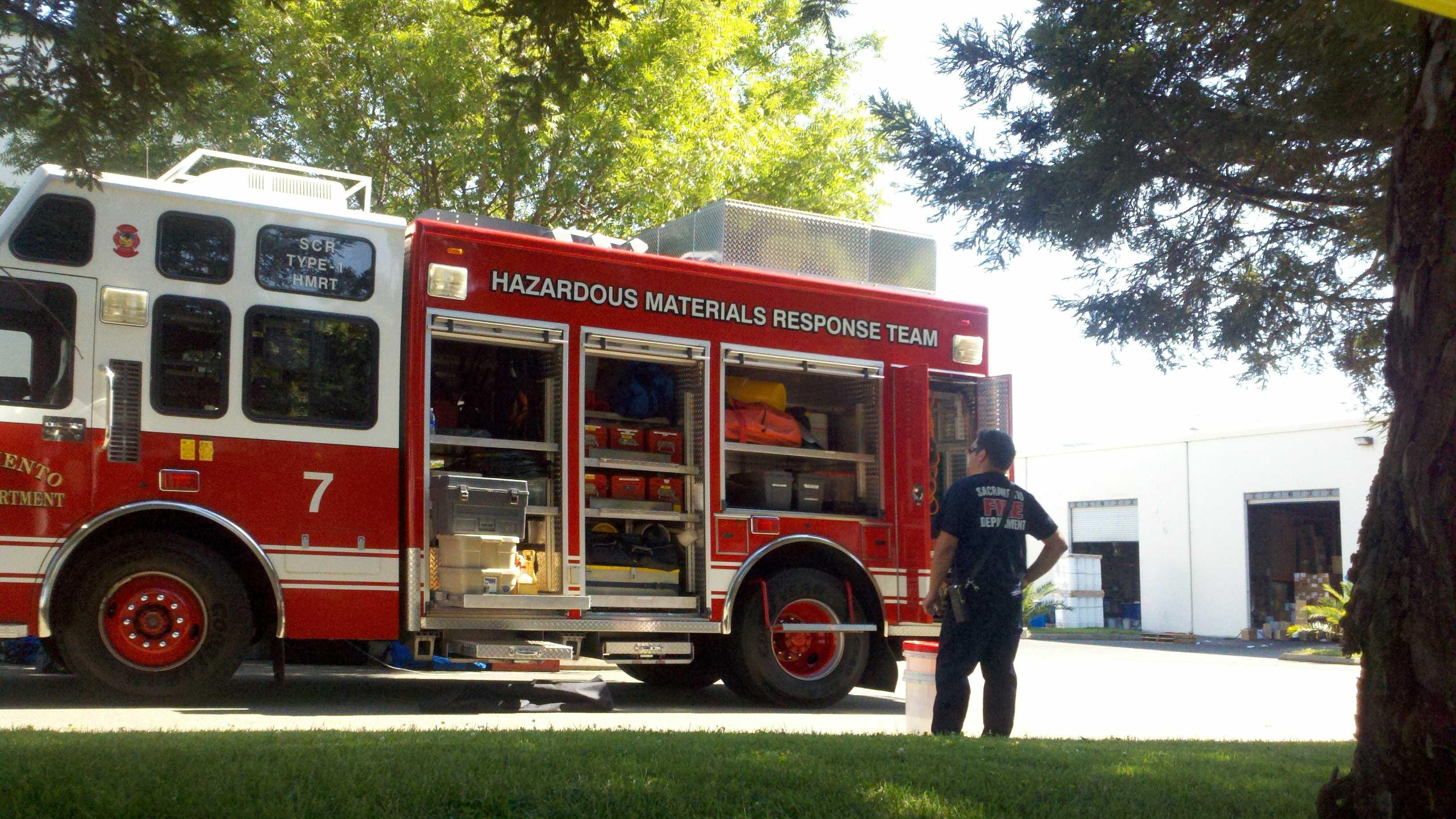 Ten people were inside a beauty manufacture Friday when a fire broke inside.