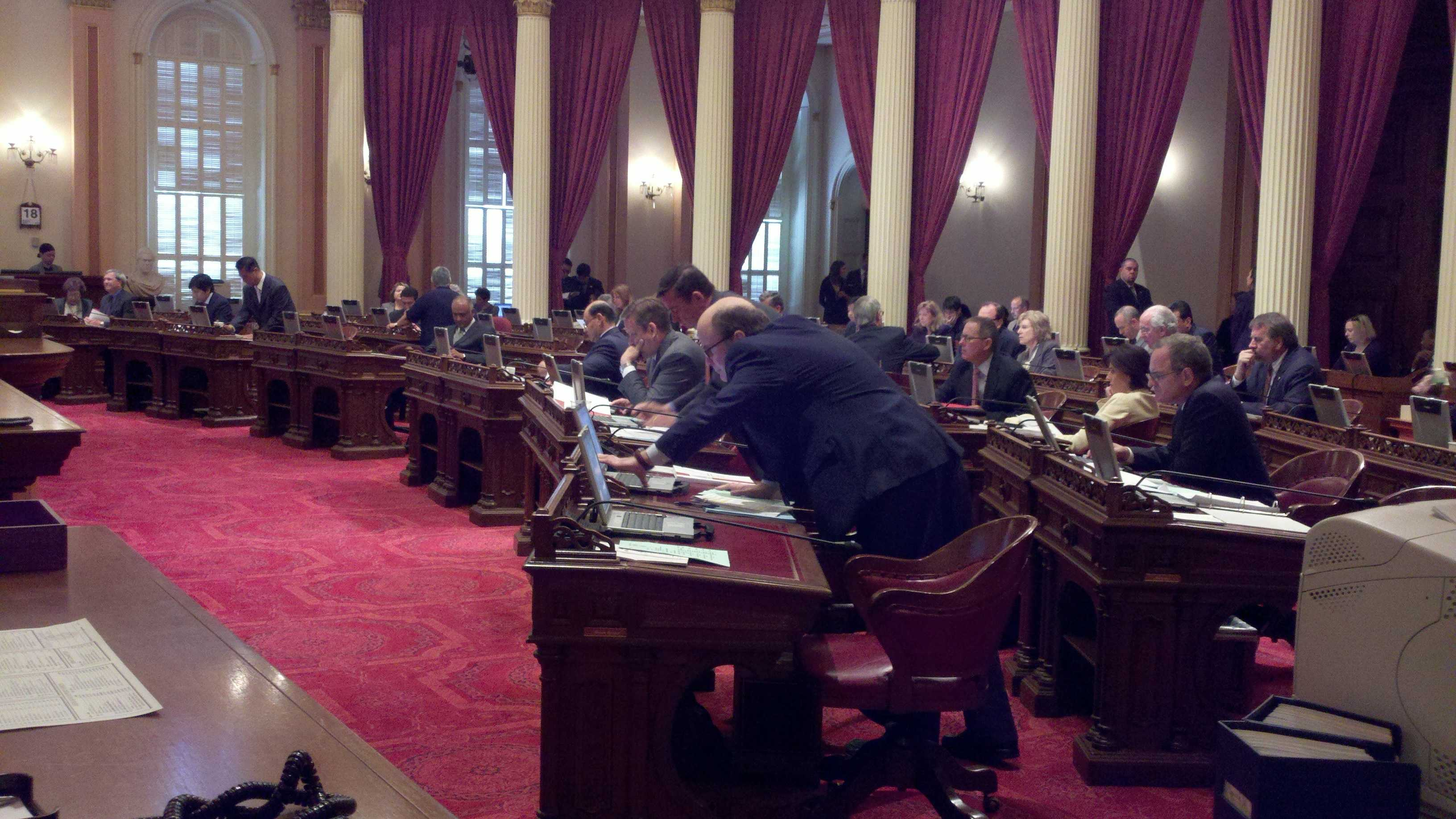 The Calif. Senate meets Monday afternoon.