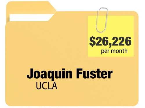 No. 3: Joaquin Fuster receives $26,226.08 a month for an annual $314,712.96 pension from the University Of California, Los Angeles.