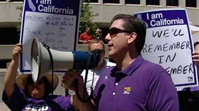 The S.E.I.U. has reached a tentative furlough agreement with Governor Brown that could mean a reduction in pay for state workers.