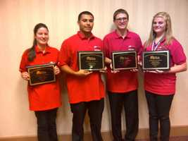 First place awards for Stagg High School team: Emily Cornelison, Julian De Los Santos, Sean Ferguson, Brooklyn Omstead