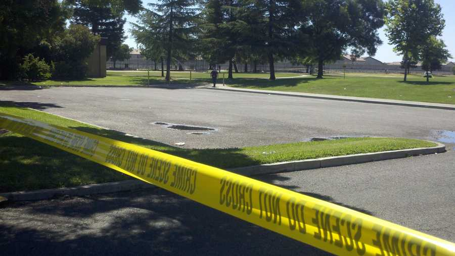 A man's body was found by a jogger in a Stockton park Thursday morning, police said.