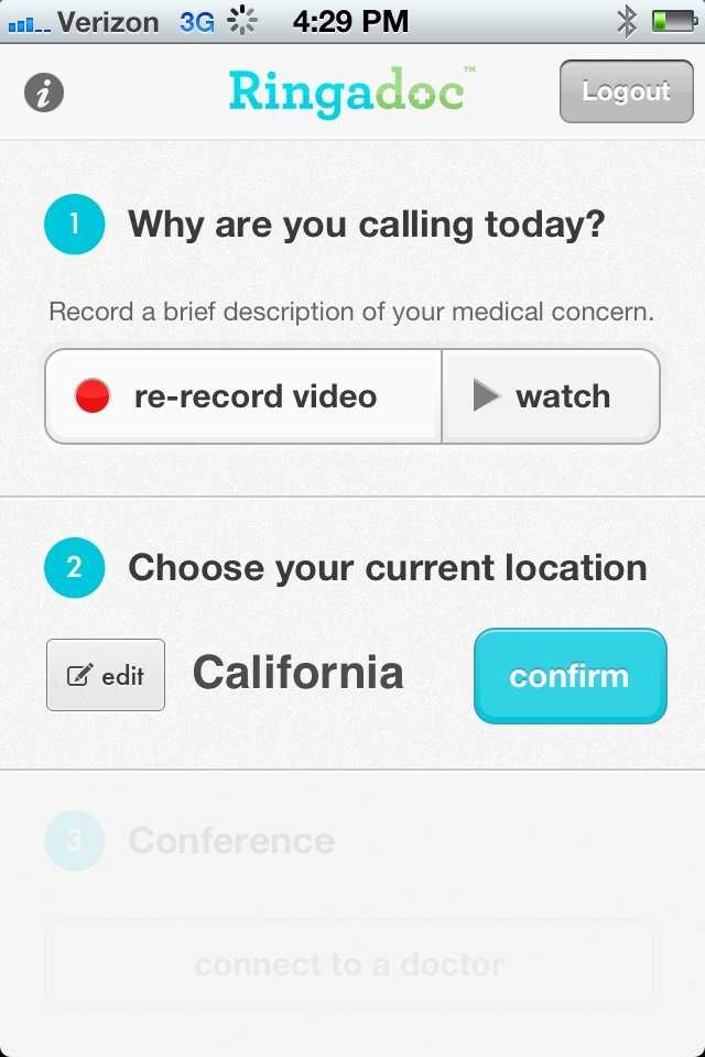 After uploading video, the system automatically selects a doctor.  Patients cannot select a doctor.