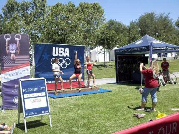 Athletes from various teams at the U.S. Olympic trials in San Jose.