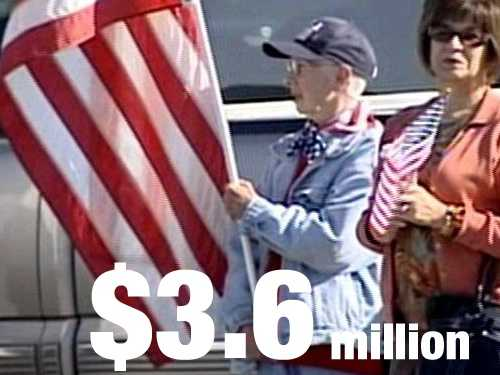 In 2011, the dollar value of U.S. imports of American flags was $3.6 million.