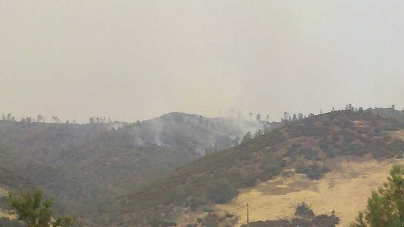 Federal fire officials said Tuesday afternoon that a wildfire in the Mendocino National Forest has already burned about 13,000 acres and remains active.