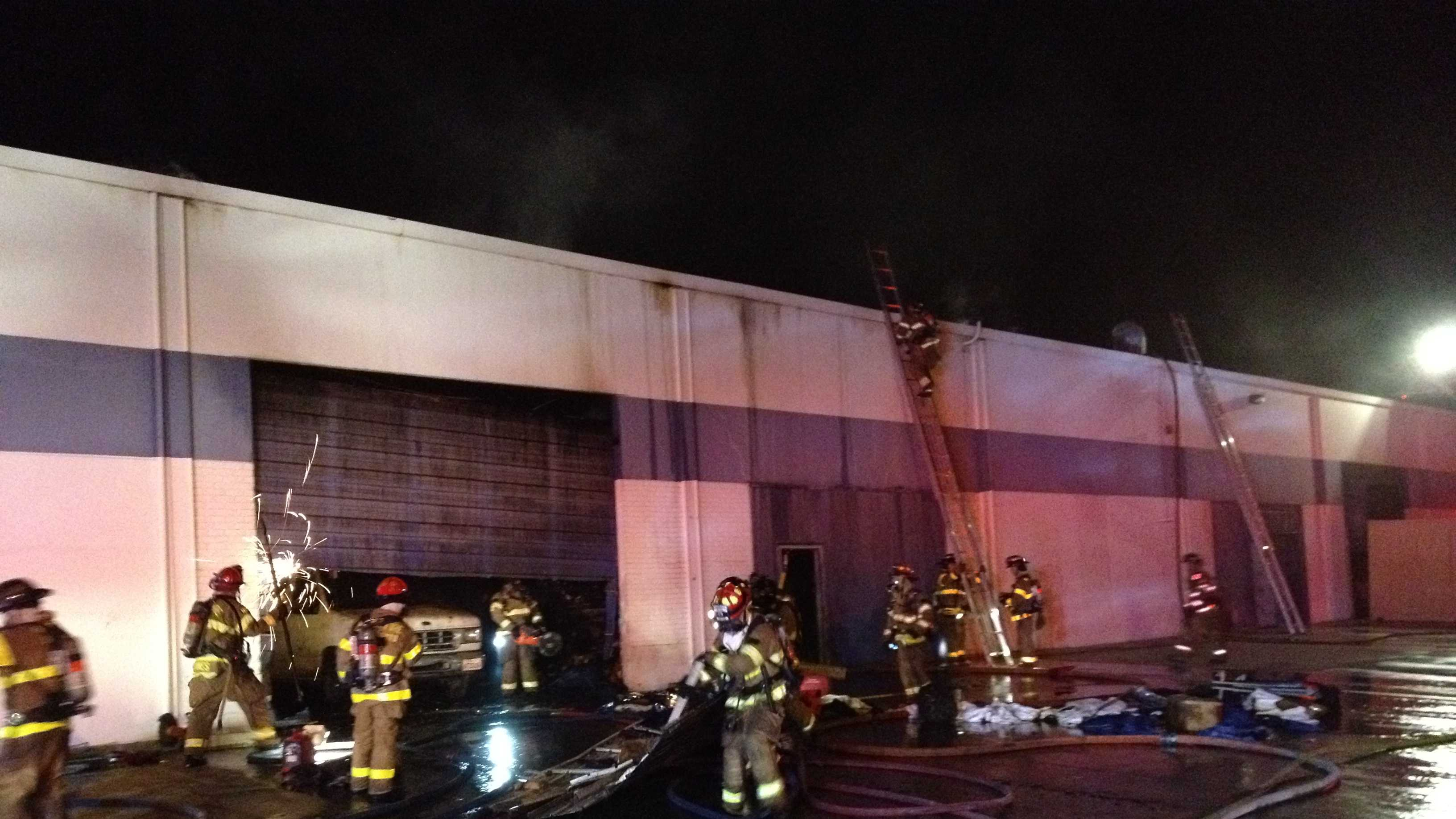 Fire broke out in a Rancho Cordova warehouse Friday morning.
