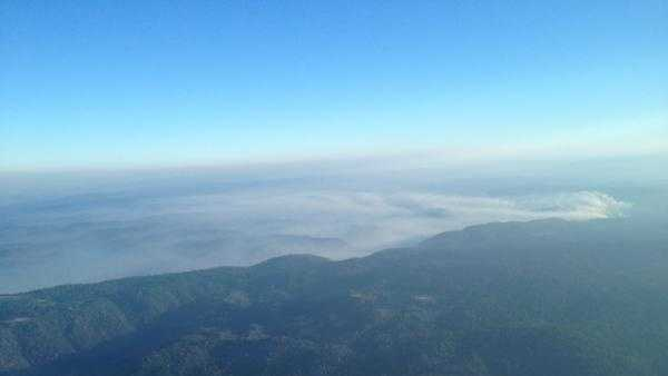 Smoke is blowing north (July 13, 2012).