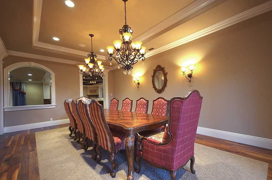A look inside the formal dining room.