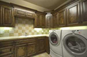 This home has three laundry rooms.