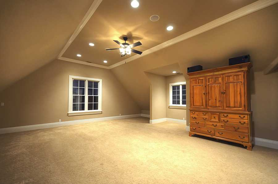 This is the home's master bedroom -- but it's one of two master suites.