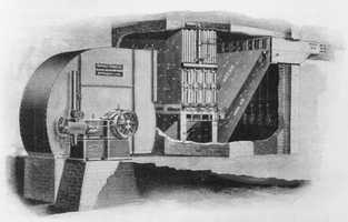 Willis Carrier built the first modern air conditioner in 1902 to keep humidity down (and keep pages from wrinkling) in the New York printing plant where he worked, according to articles in Slate and The Atlantic. It accomplished its goal by sending air through coils cooled by water.