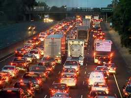 Traffic is backed up on Highway 99.