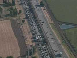 A multiple-injury crash along Interstate 80 in Dixon slowed down traffic Thursday.
