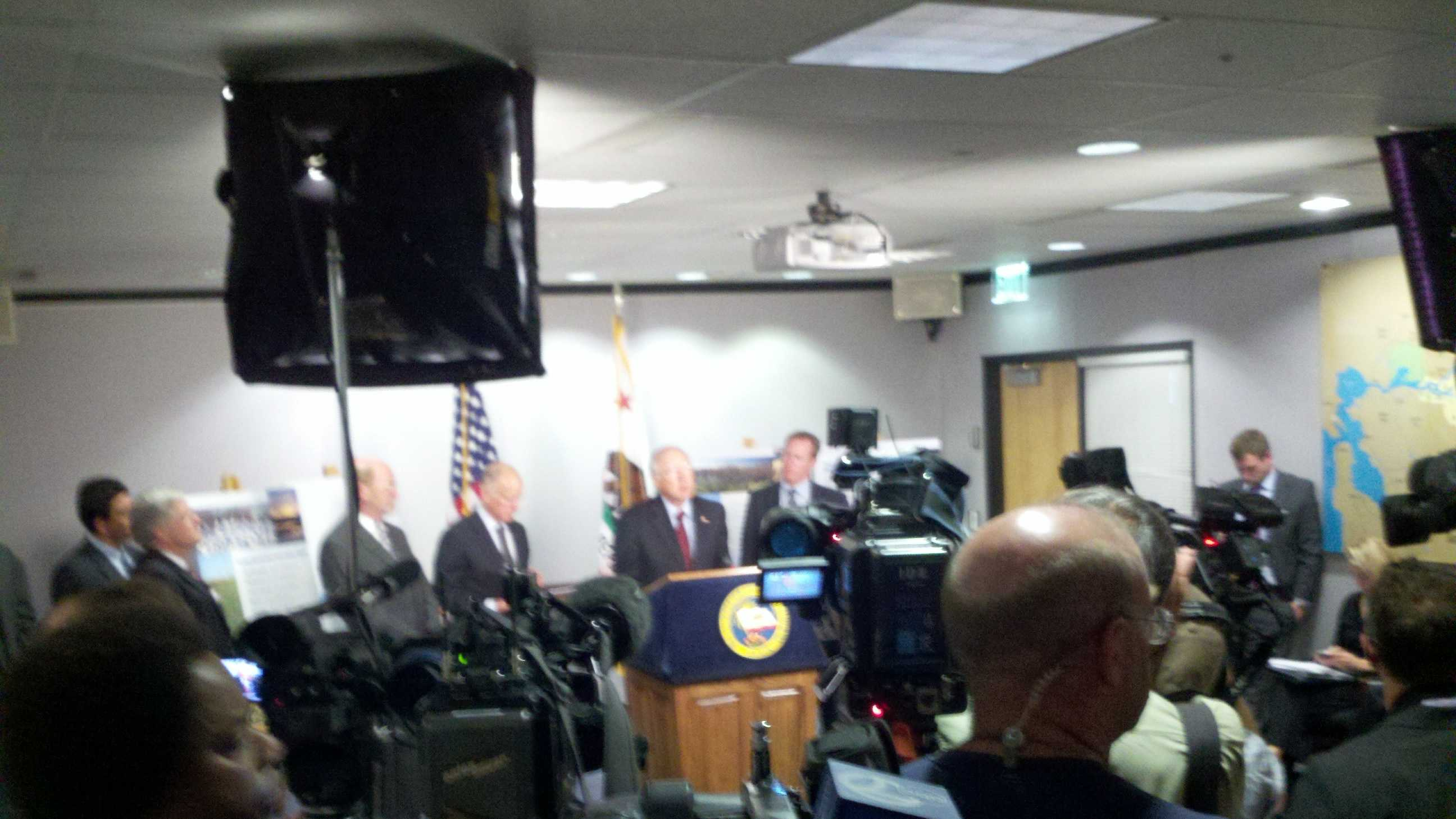 Interior Secretary Salazar is in support of Gov. Jerry Brown's water plan (July 25, 2012).