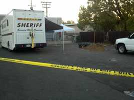 Thursday - Yellow crime tape surrounds the home on the 1600 block of Stewart Road.