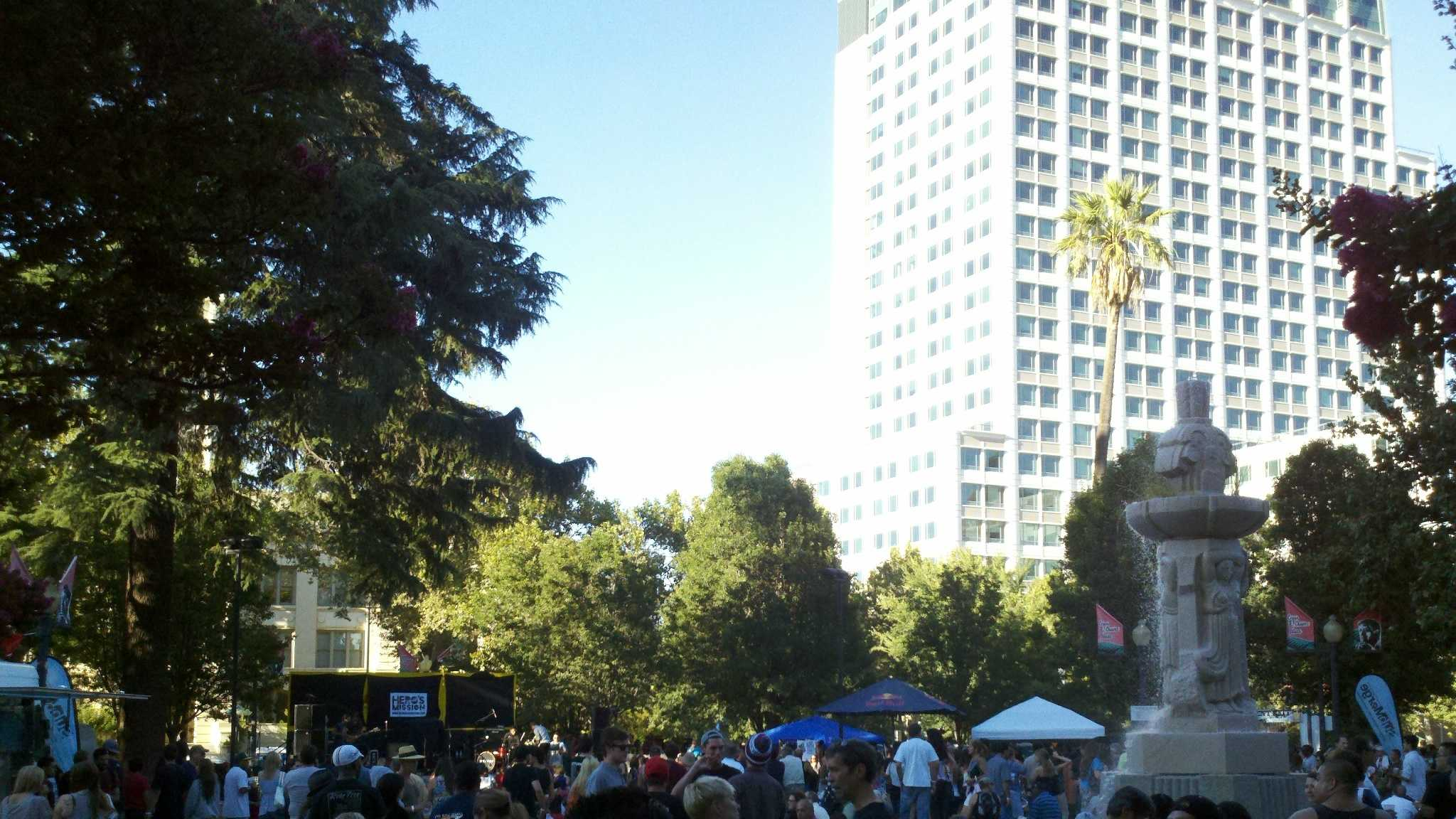 The Concerts in the Park series at Cesar Chavez was in full swing Friday in downtown Sacramento (July 27, 2012).