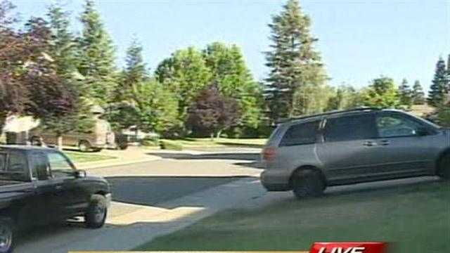 Elk Grove police are searching a nieghborhood for a suspected car thief who could be armed.