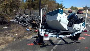 The RV attempted to avoid the oncoming truck by swerving into the opposite lane, according to the CHP.