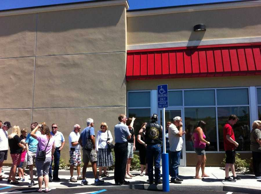 """People also lined up outside the Chick-fil-A in Folsom for """"appreciation day."""""""