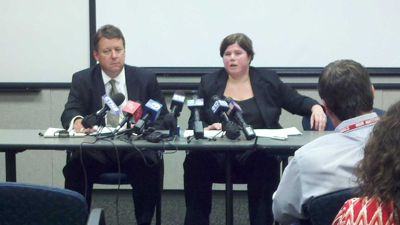 Finance officials explain $2 billion in discrepancies at a news conference Friday (Aug. 3, 2012).