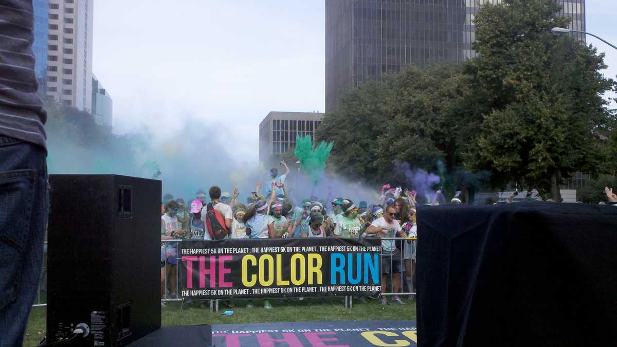 Less about your minute mile and more about having the time of your life, The Color Run is a five-kilometer, un-timed race and epic Finish Festival. Thousands of Color Runners are doused from head to toe in different colors at each kilometer and finish with a larger than life party with music, dancing, and massive color throws.