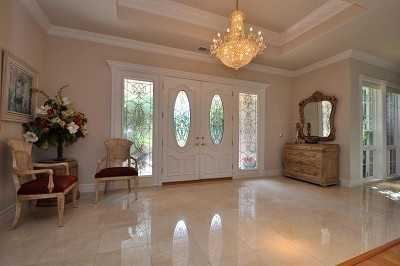 Here's the foyer inside the four-bedroom home.