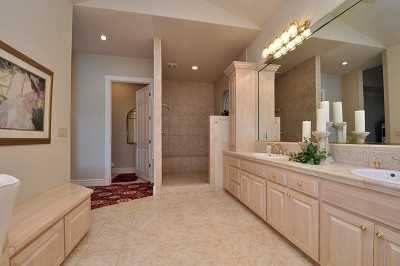 Here's a look inside the master bathroom.