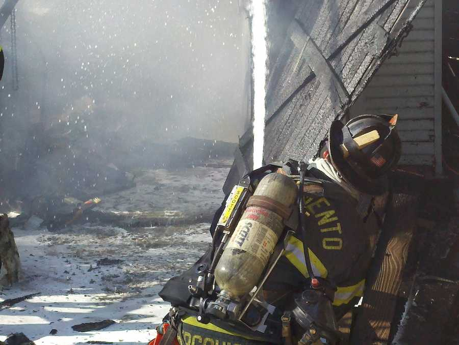 A fire in south Sacramento spread to neighboring homes and a shed and injured one Wednesday.