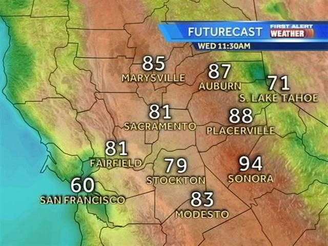 A string of triple-digit weather is expected to begin Wednesday throughout Northern California. See when and where the region will begin to creep into the century mark.