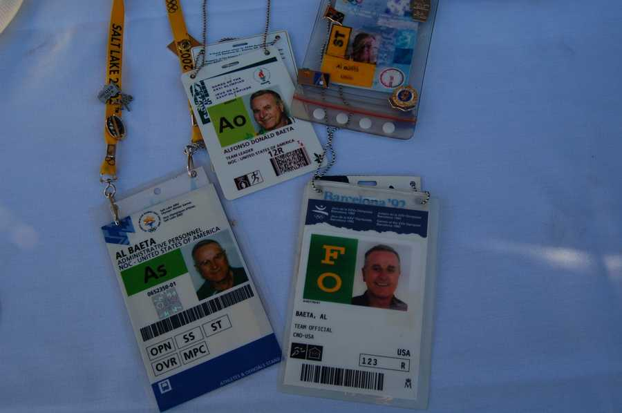 Credentials from the 1992 Olympic Games in Barcelona.
