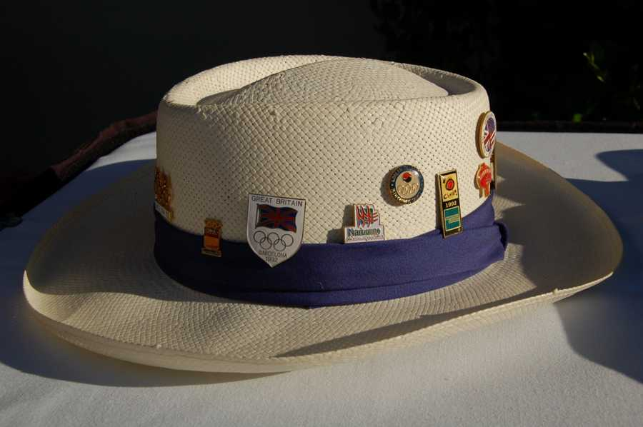 The 1992 parade hat is what athletes and coaches wore in the opening and closing ceremonies.