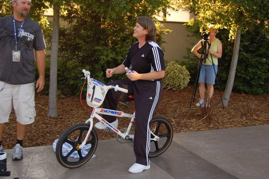Cheri Elliot on the bike.