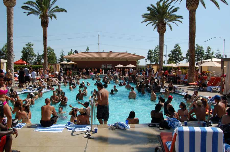 The Thunder Valley Casino Resort H2O pool party happens every Sunday with a $5 cover.