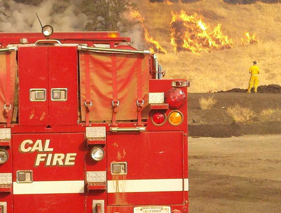 Wildfires are burning in Lake County, and have forced the evacuation of homes.