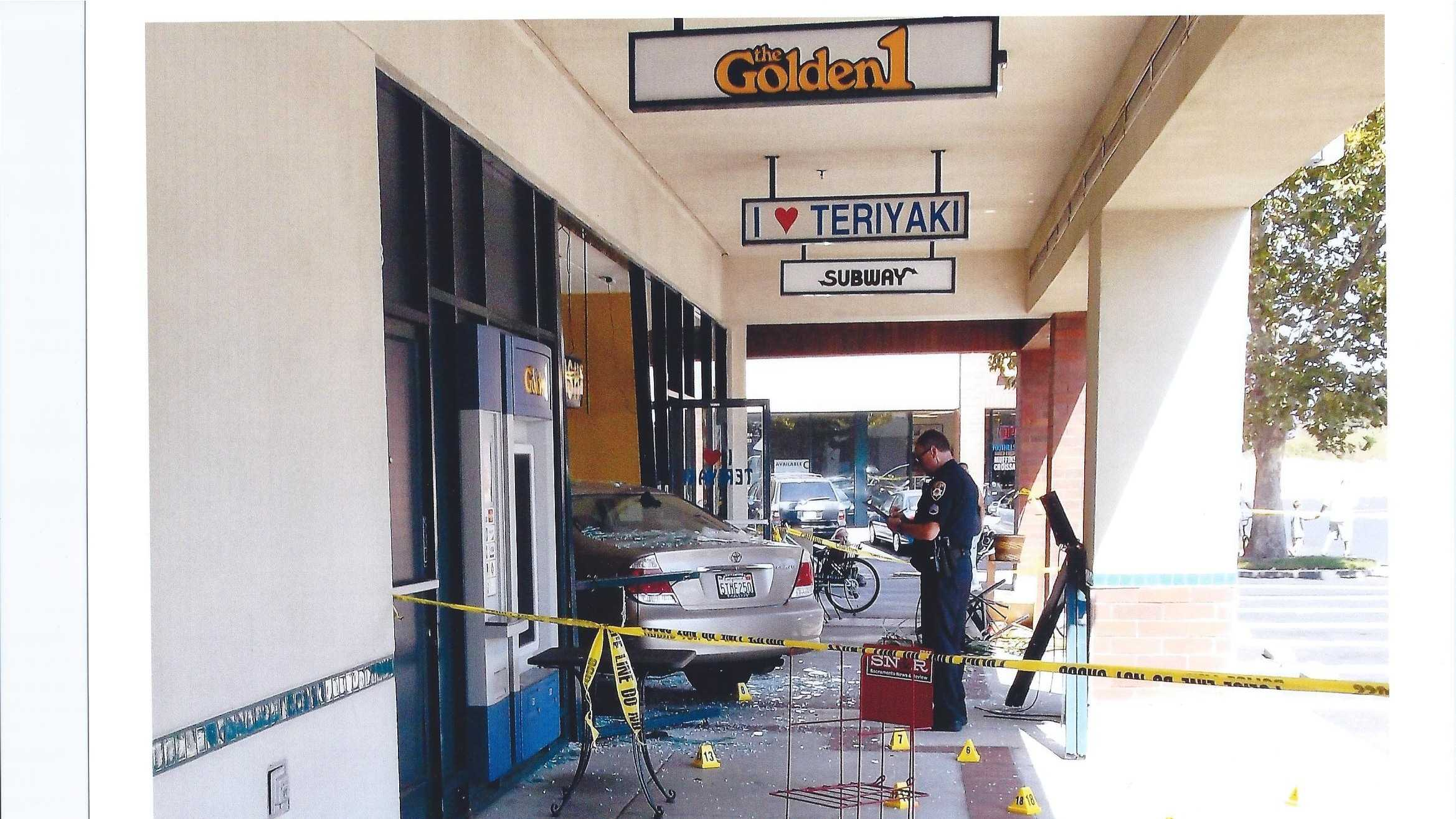 Car into Roseville retaurant