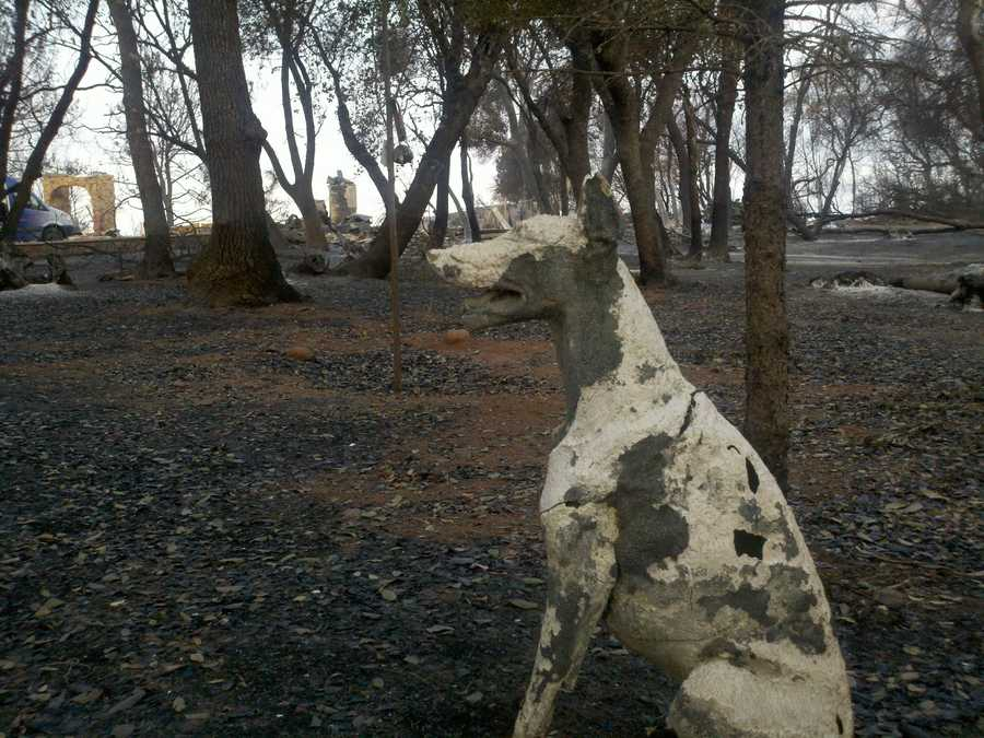 KCRA 3 took a look around some of the damage from the Lake County fires Tuesday morning, which includes a destroyed house and boat.